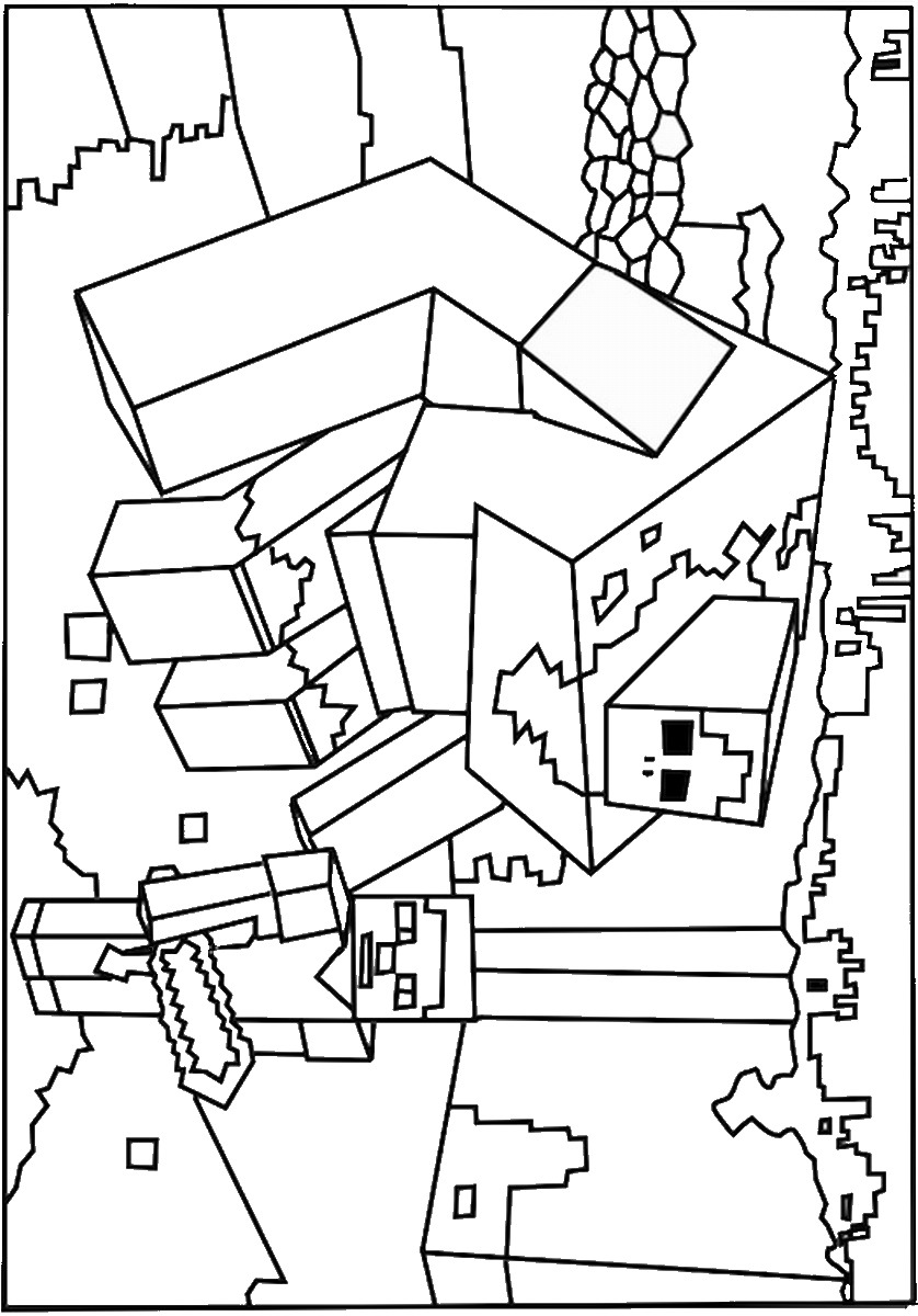 It's just a graphic of Invaluable Minecraft Coloring Pages Printable