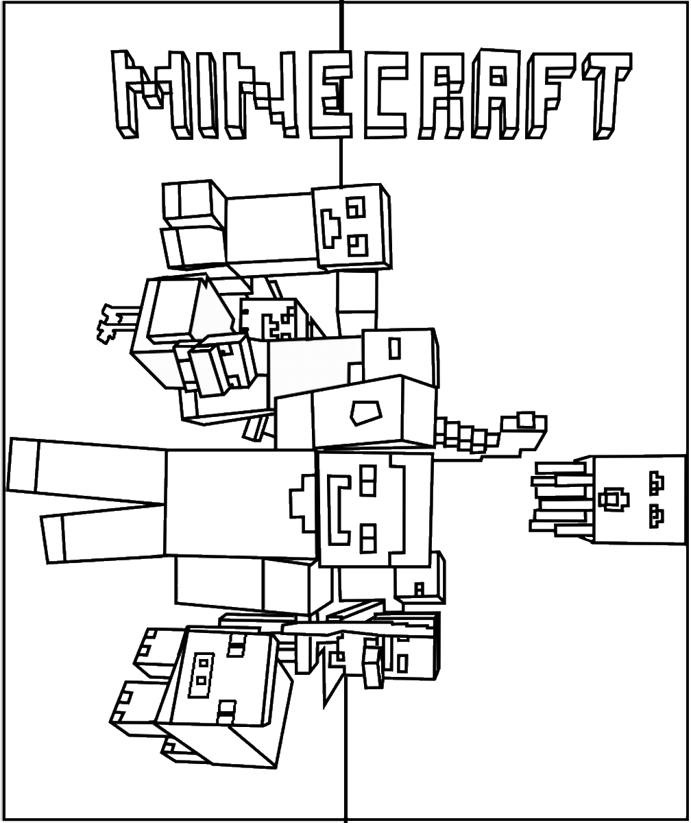 Minecraft Coloring Pages – Birthday Printable