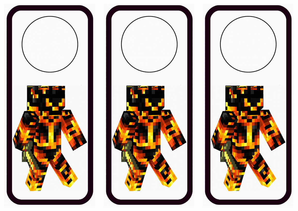 Minecraft Door Hangers Birthday