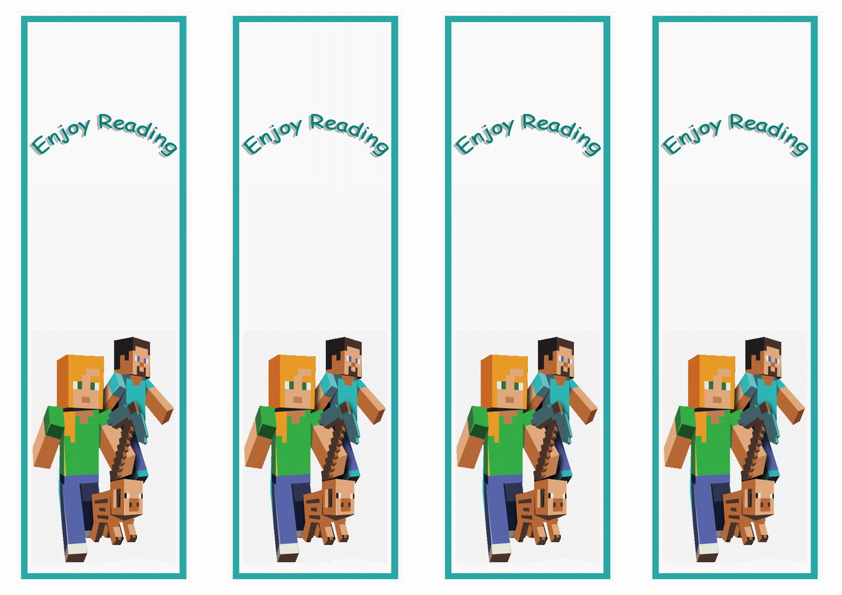 Minecraft Bookmarks Birthday