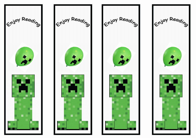 Minecraft Bookmarks Birthday