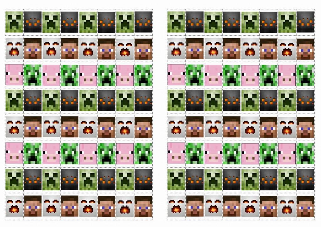 Minecraft Stickers – Birthday Printable