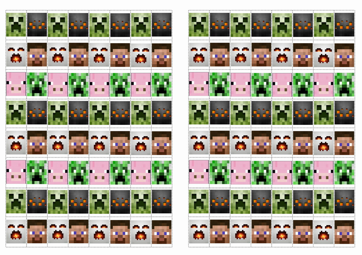 photograph about Minecraft Labels Printable known as Minecraft Stickers Birthday Printable
