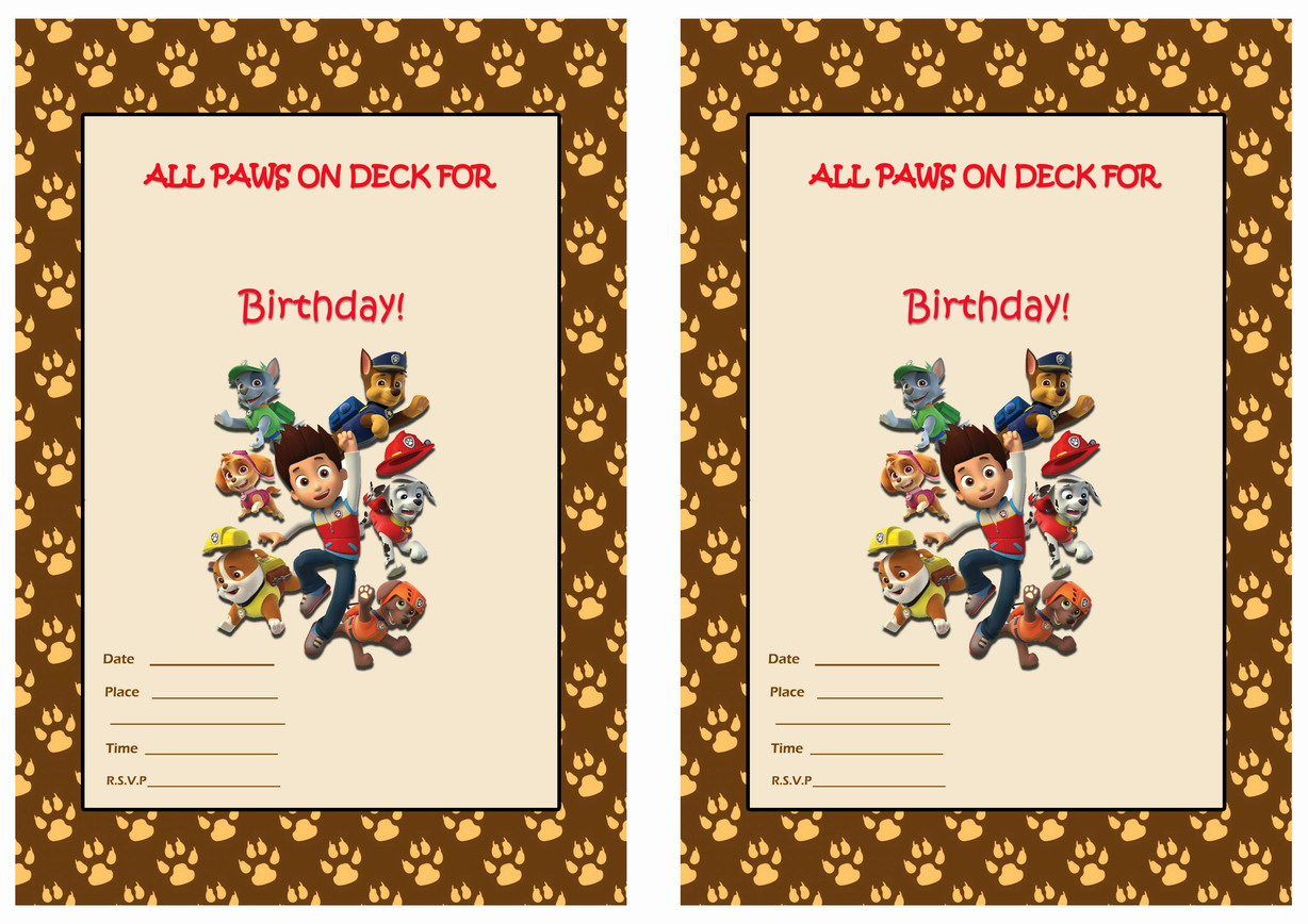 Paw Patrol Birthday Invitations – Birthday Printable