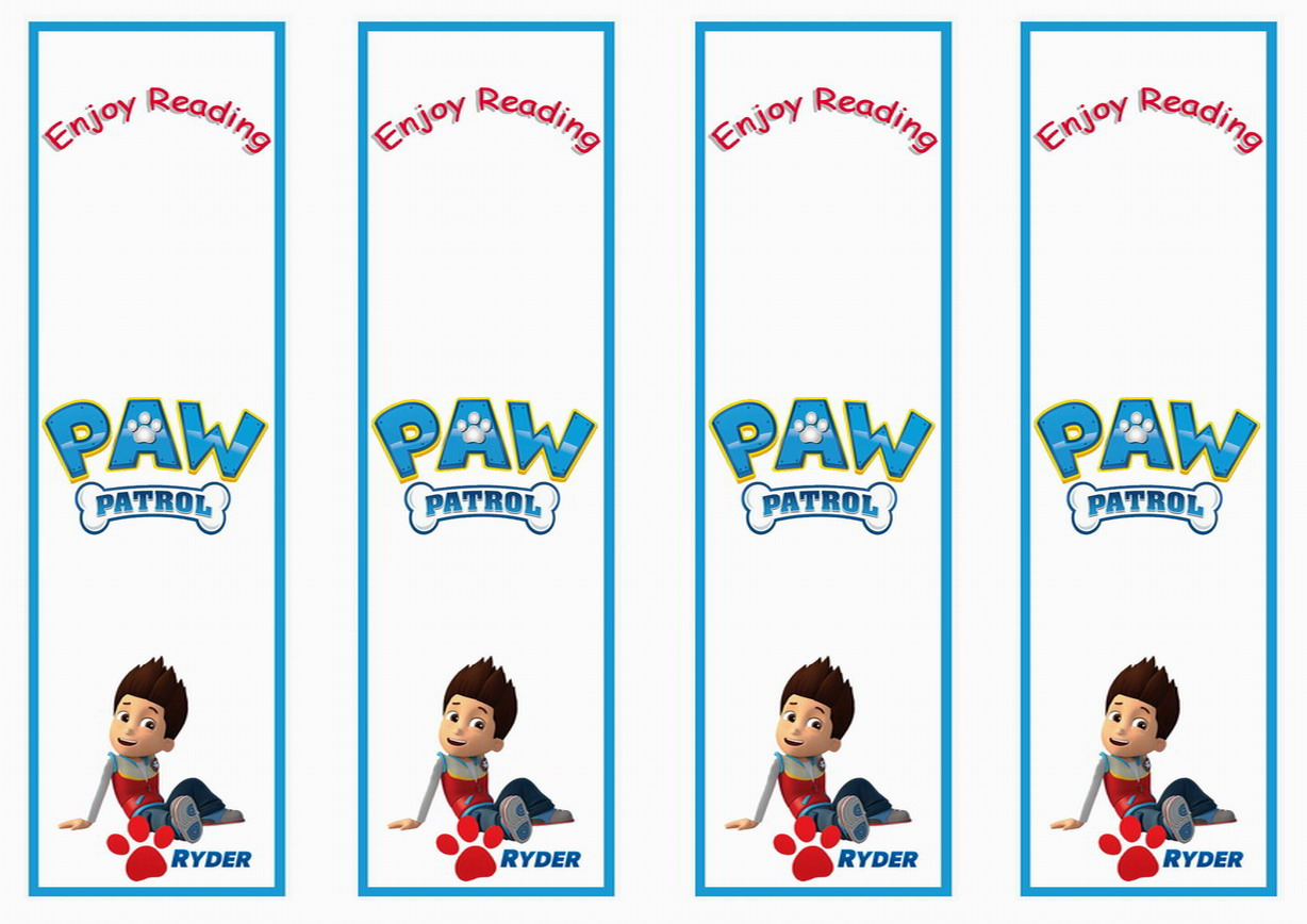 Paw Patrol Bookmarks