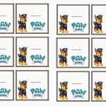 Paw Patrol Name Tags