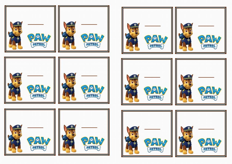 Paw Patrol Birthday Printable
