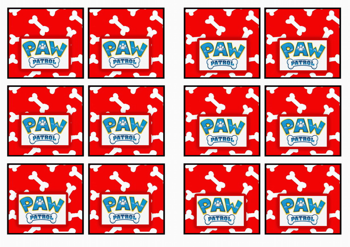 Paw Patrol Name Tags Birthday Printable