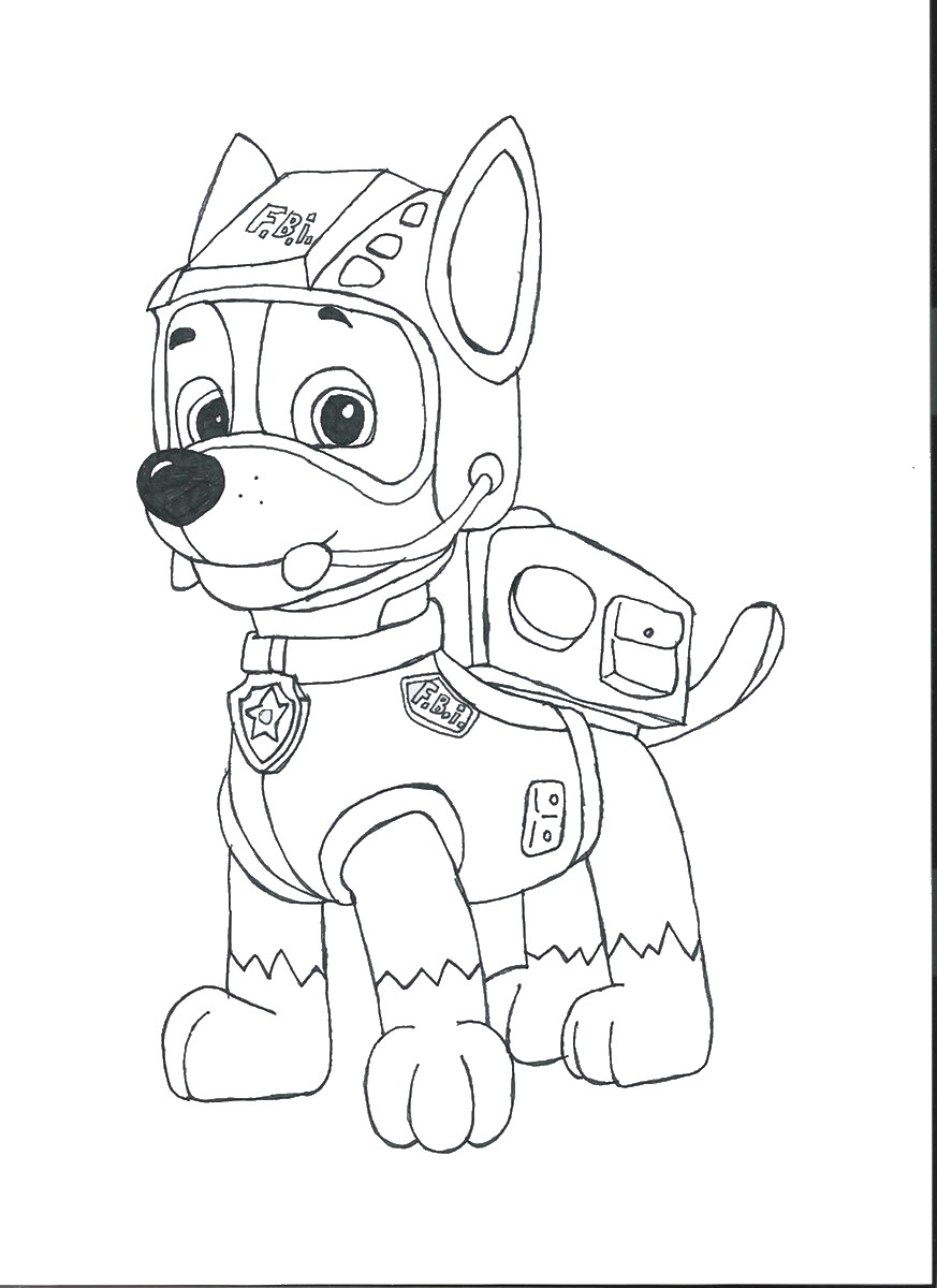 Paw patrol coloring pages happy birthday - Paw Patrol Coloring Pages