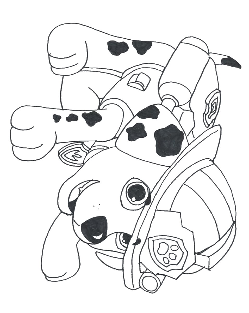 paw patrol printable coloring pages - Free Printable Paw Patrol Coloring Pages