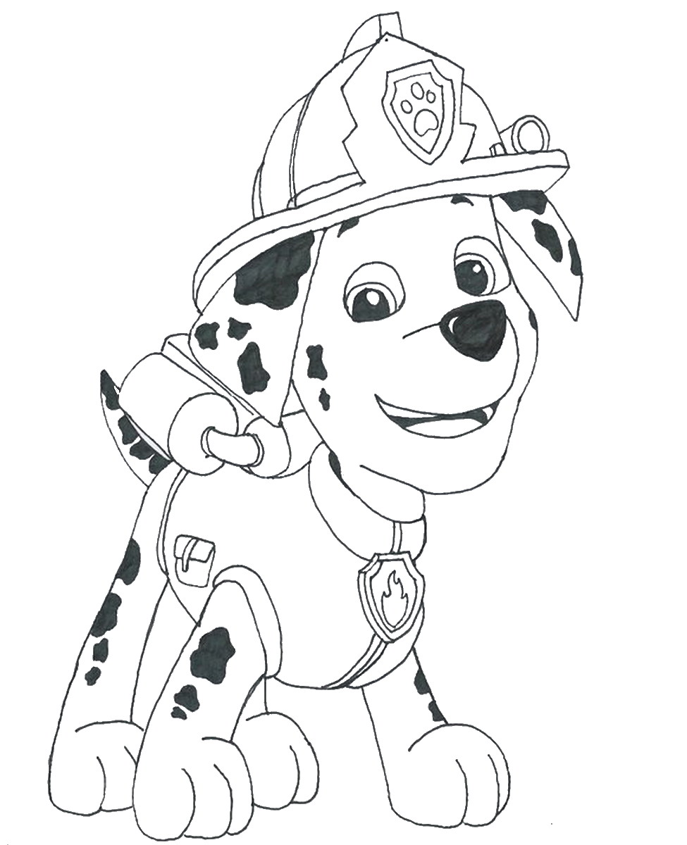 Paw patrol colouring pages free - Paw Patrol Coloring Pages Birthday Printable