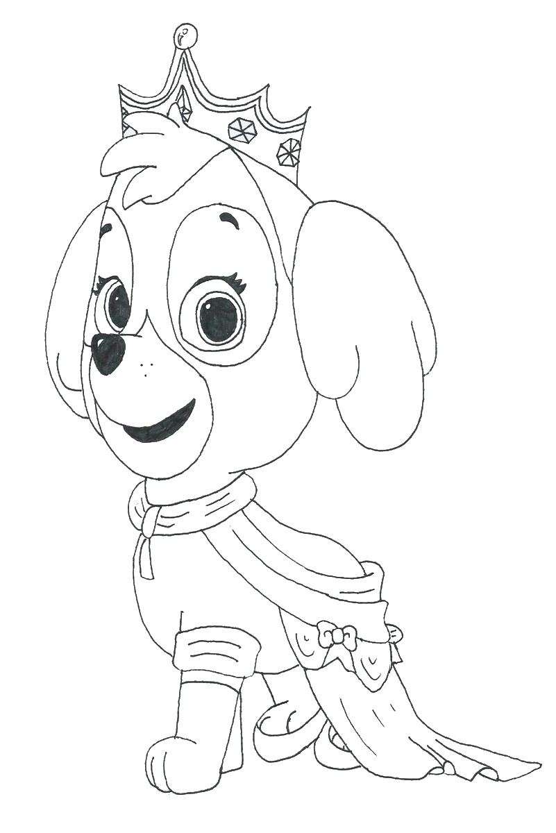 Paw patrol coloring pages happy birthday - Paw Patrol Coloring Pages Happy Birthday 54