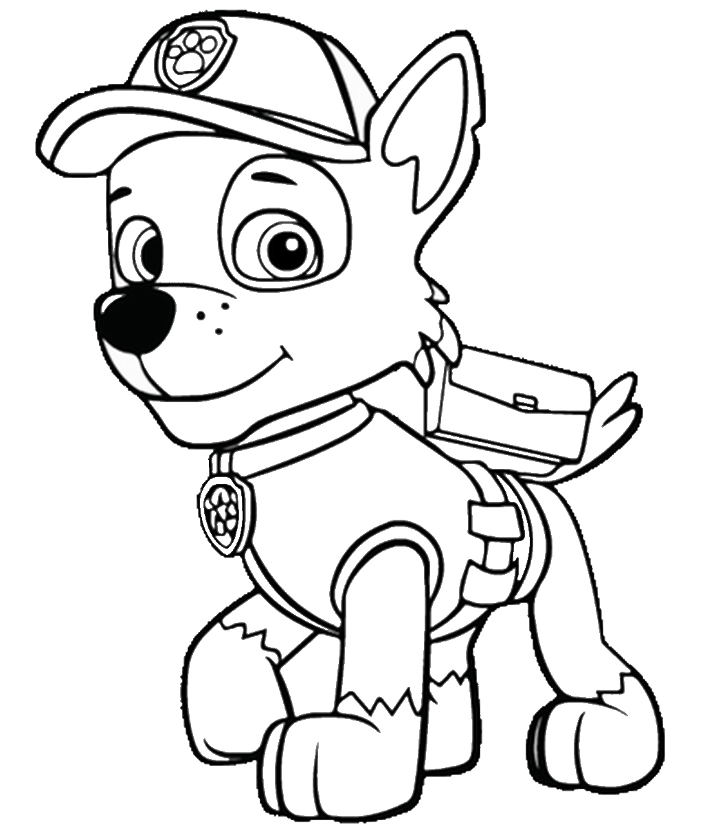 Paw Patrol Coloring Pages Birthday