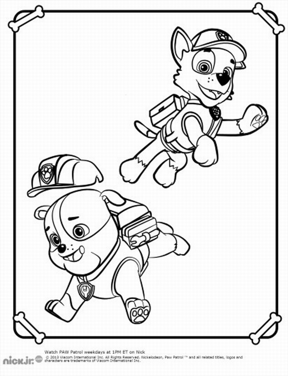 Paw Patrol Coloring Pages – Birthday Printable