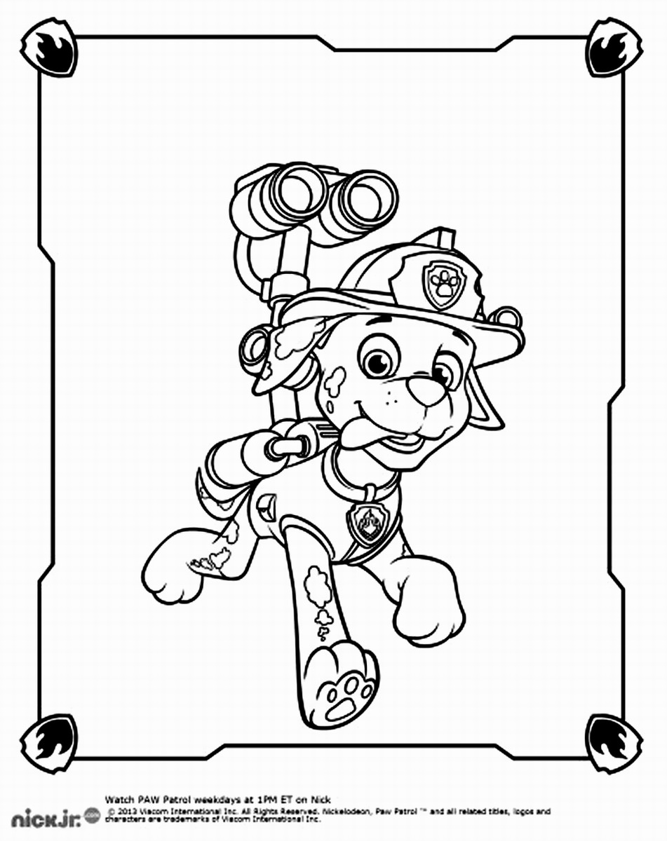 Paw patrol coloring pages happy birthday - Paw Patrol Coloring Pages Happy Birthday 23