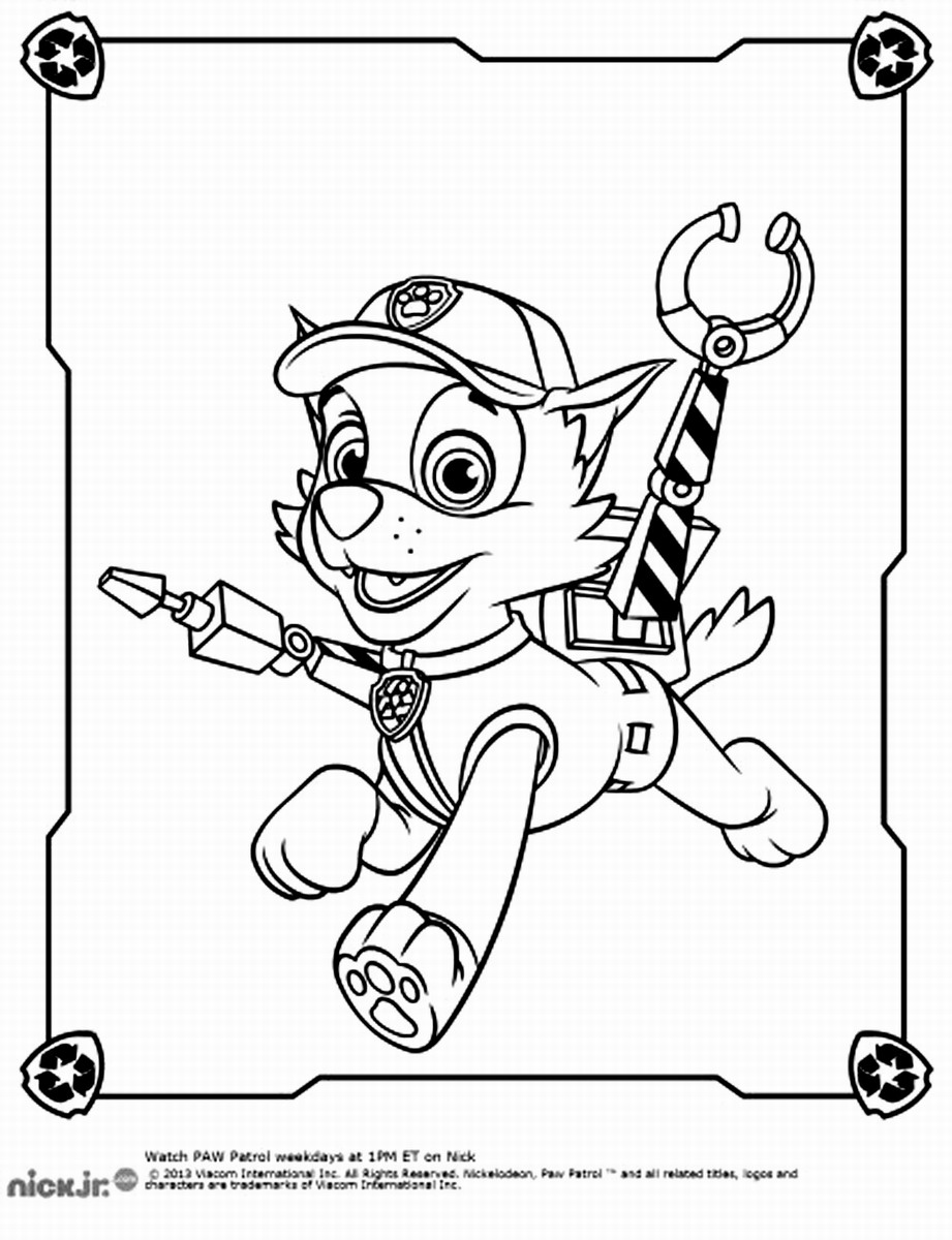 Paw Patrol Coloring Pages Birthday Printable