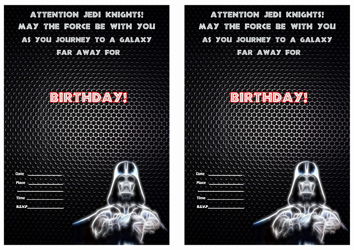 Star Wars The Force Awakens Birthday Invitations