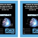 Star Wars – The Force Awakens Birthday Invitations