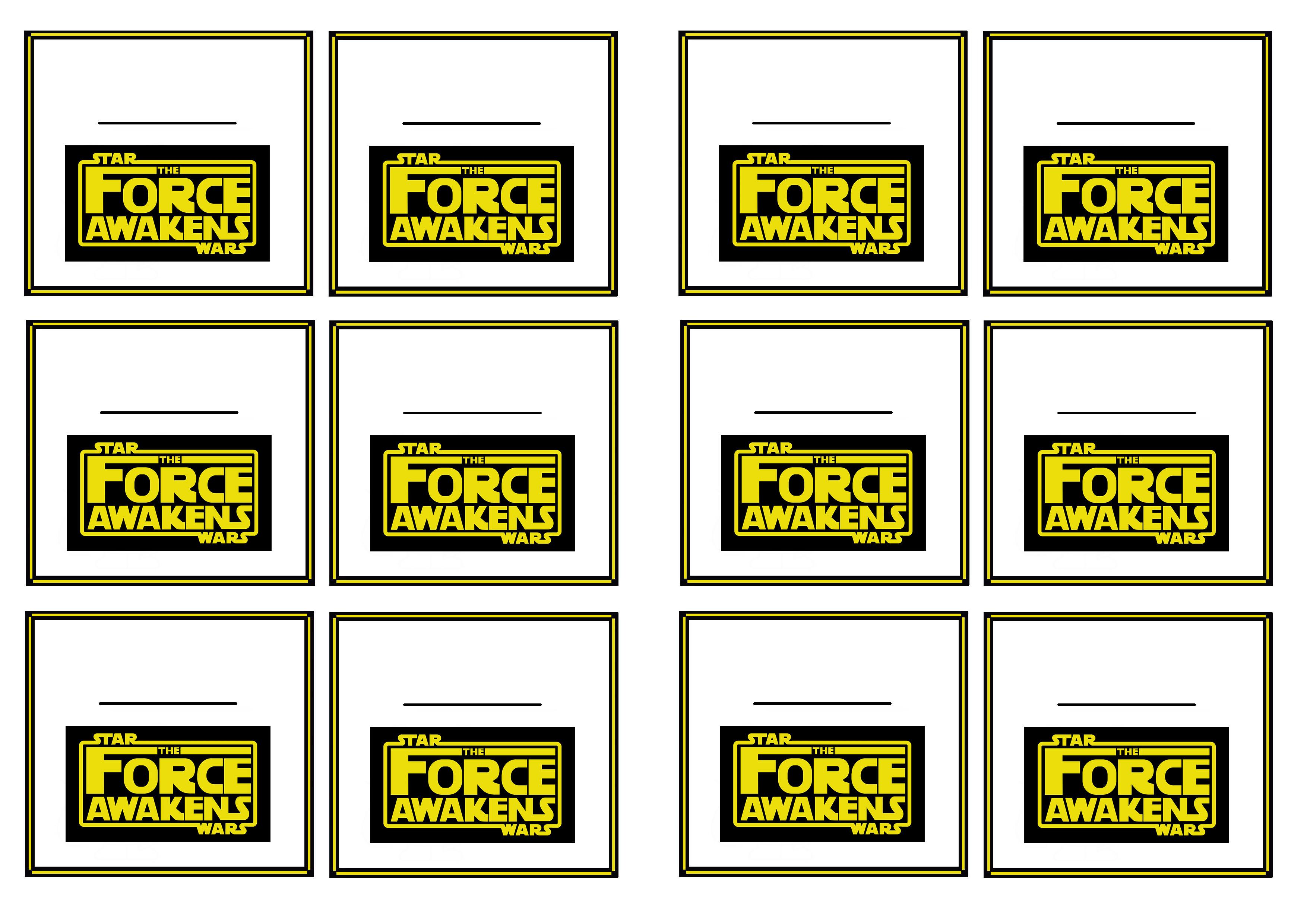 star wars  u2013 the force awakens name tags  u2013 birthday printable