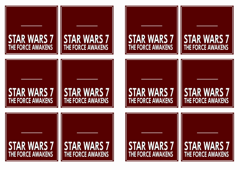 star wars  u2013 the force awakens name tags
