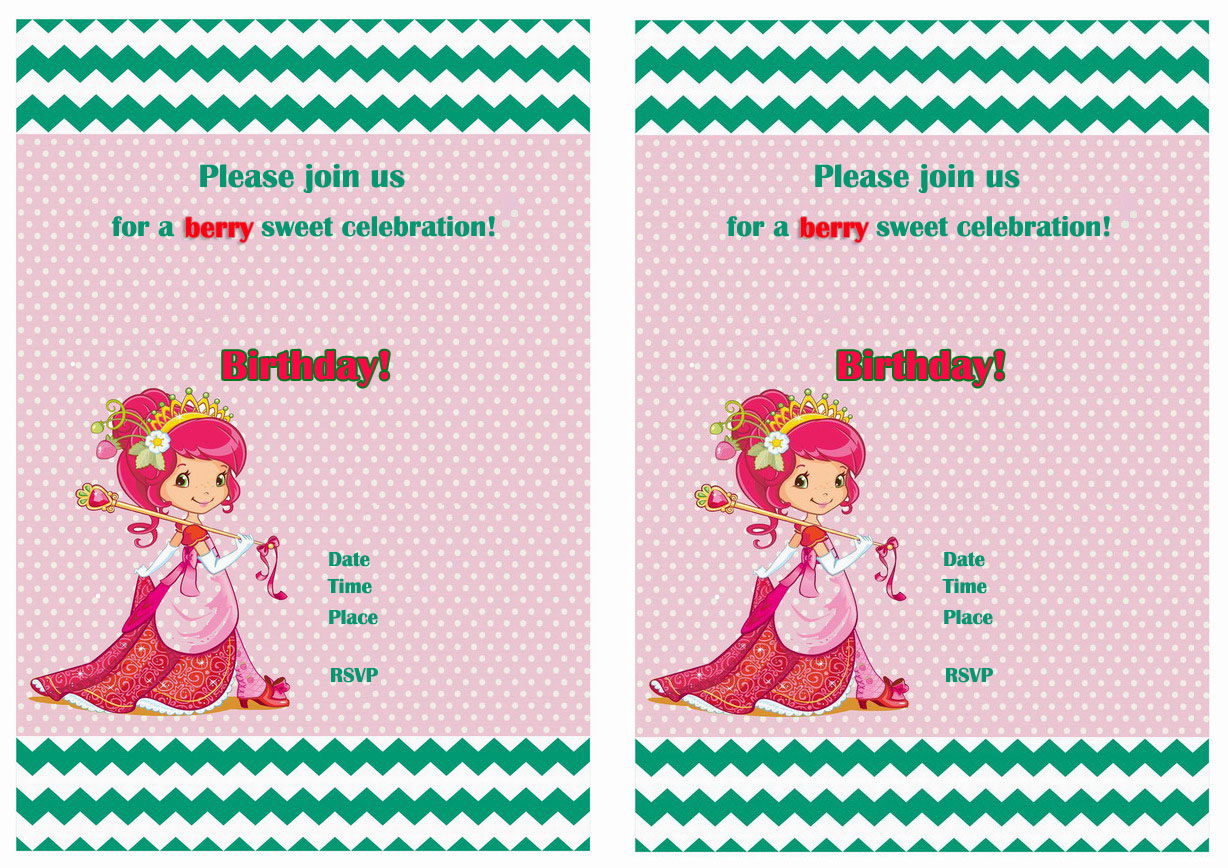 Strawberry shortcake birthday invitations birthday printable strawberry shortcake free birthday invitations filmwisefo Gallery