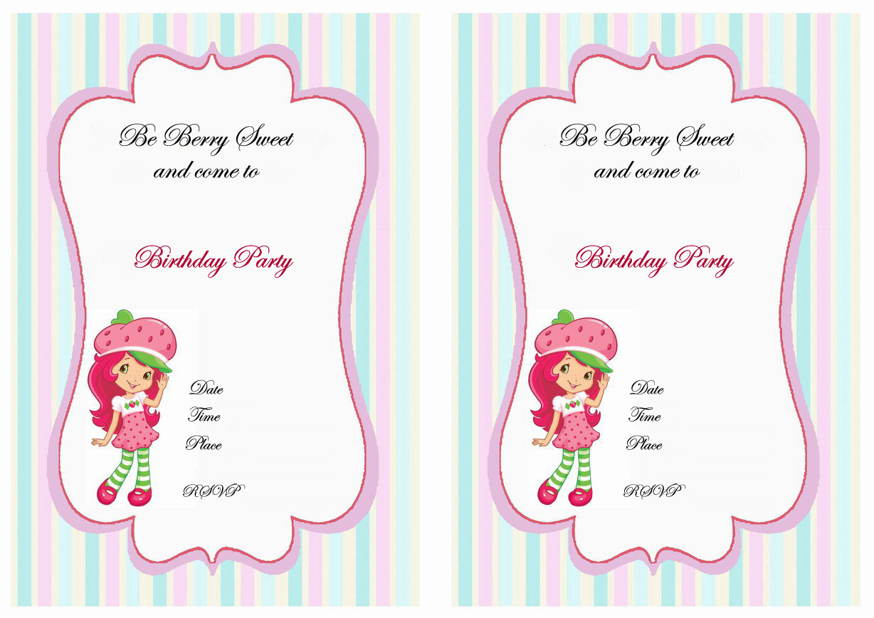Strawberry shortcake birthday printable strawberry shortcake birthday invitations filmwisefo Gallery