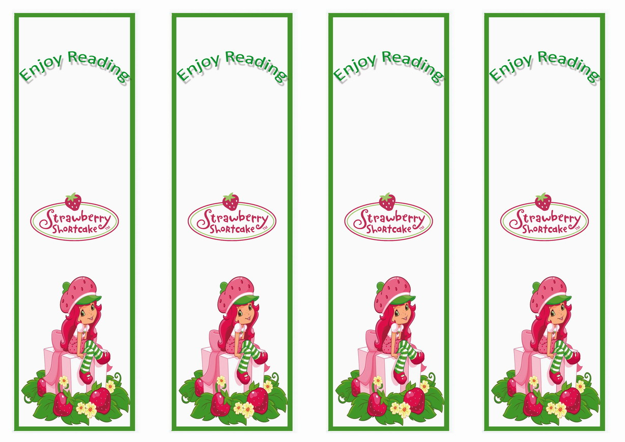 Strawberry Shortcake Bookmarks – Birthday Printable