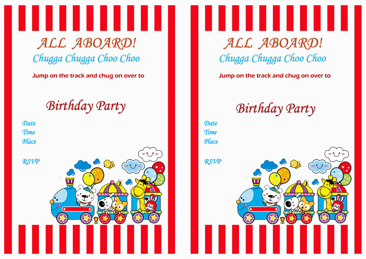 train birthday invitations birthday printable