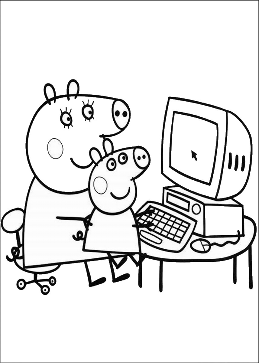 Peppa pig coloring sheets - Peppa Pig Coloring Pages