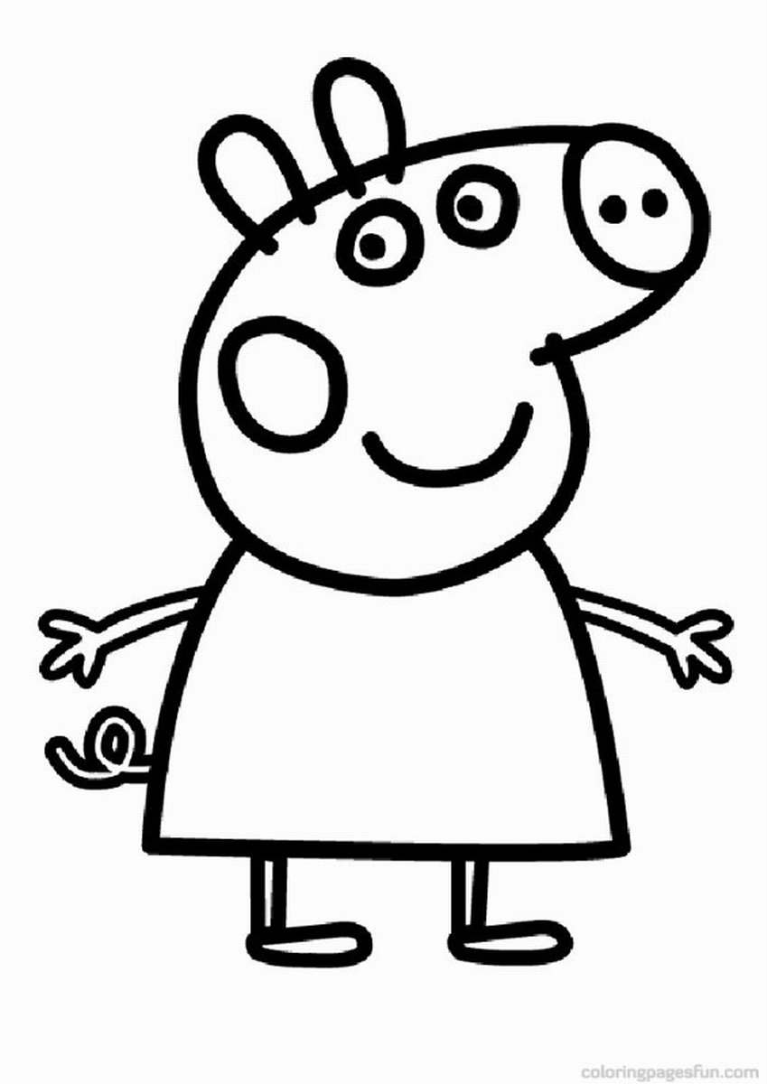 It is a picture of Clever Peppa Coloring Pages
