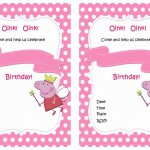 Peppa Pig Birthday Invitations