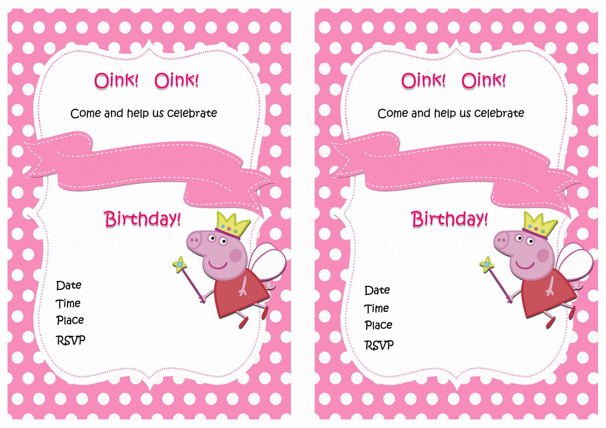 Peppa Pig Birthday Invitations Birthday Printable