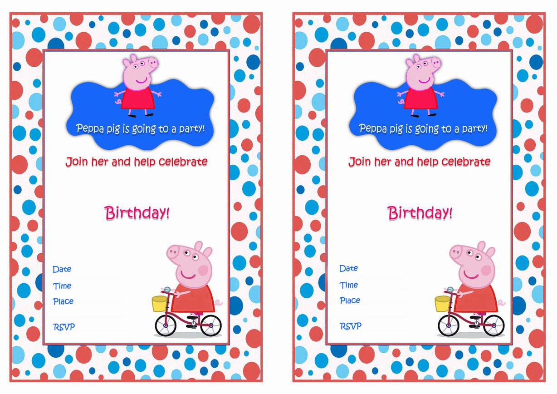 Peppa Pig Birthday Invitations Birthday Printable