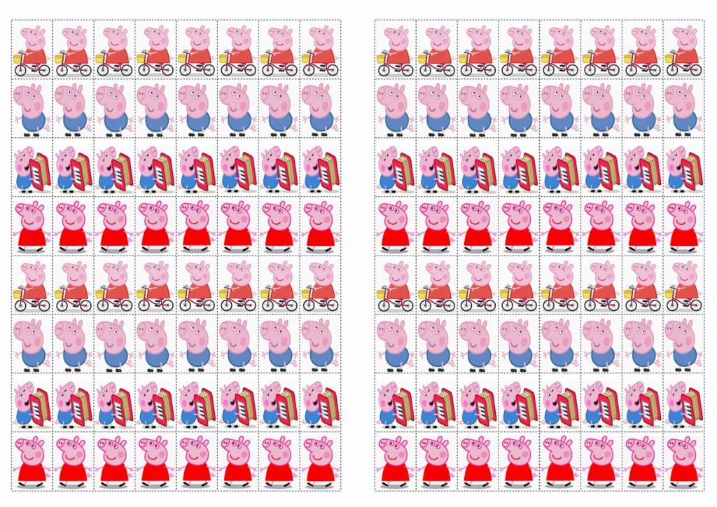 Peppa Pig Stickers Birthday Printable