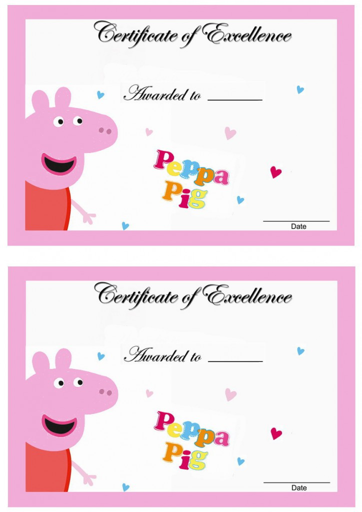 Peppa Pig Awards Birthday Printable