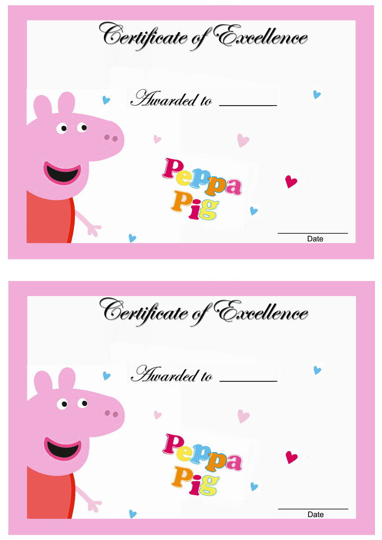 peppa pig awards u2013 birthday printable