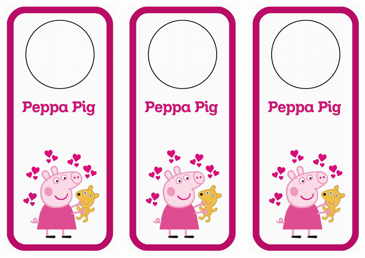 peppa pig name tags u2013 birthday printable