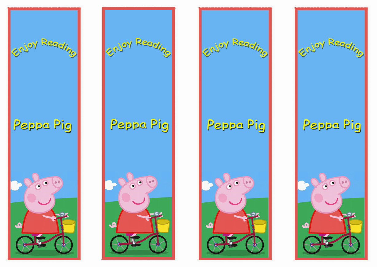peppa pig bookmarks u2013 birthday printable