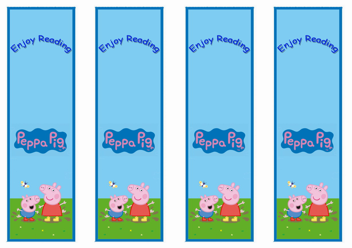 Peppa Pig Bookmarks – Birthday Printable