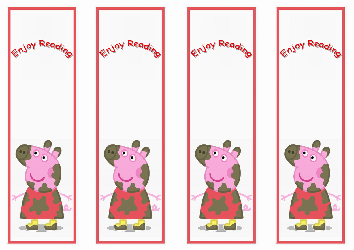 Peppa Pig Bookmarks Birthday