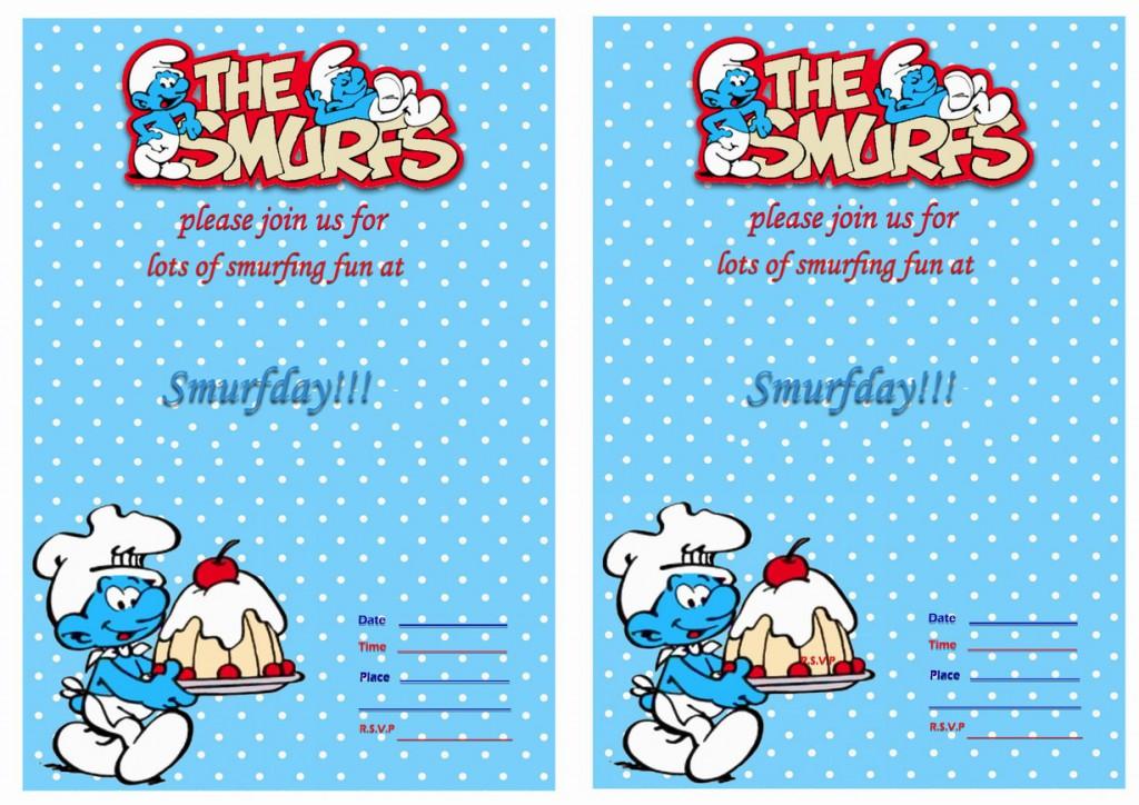 Smurfs Birthday Invitations Birthday Printable