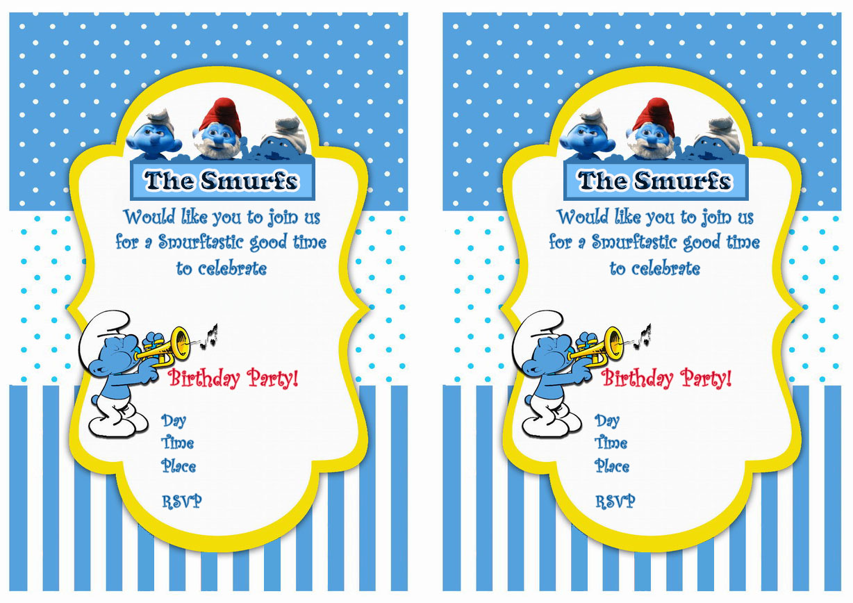 Smurfs Birthday Invitations – Birthday Printable