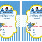 Smurfs Birthday Invitations