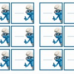 Smurfs Name Tags