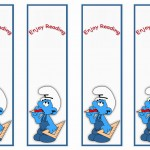 Smurfs Bookmarks Birthday Printable