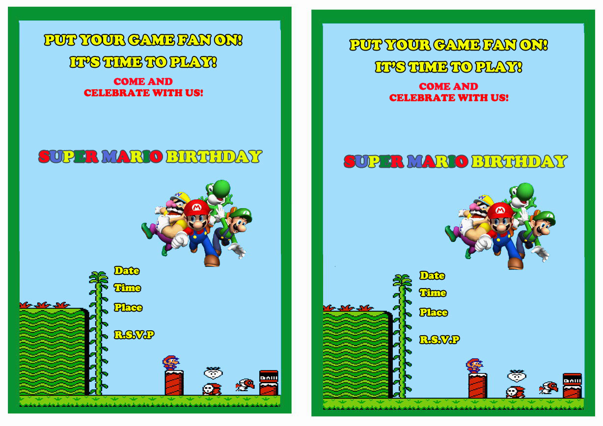 doc 1228868 mario birthday invitations super mario birthday super mario birthday invitations birthday printable mario birthday invitations