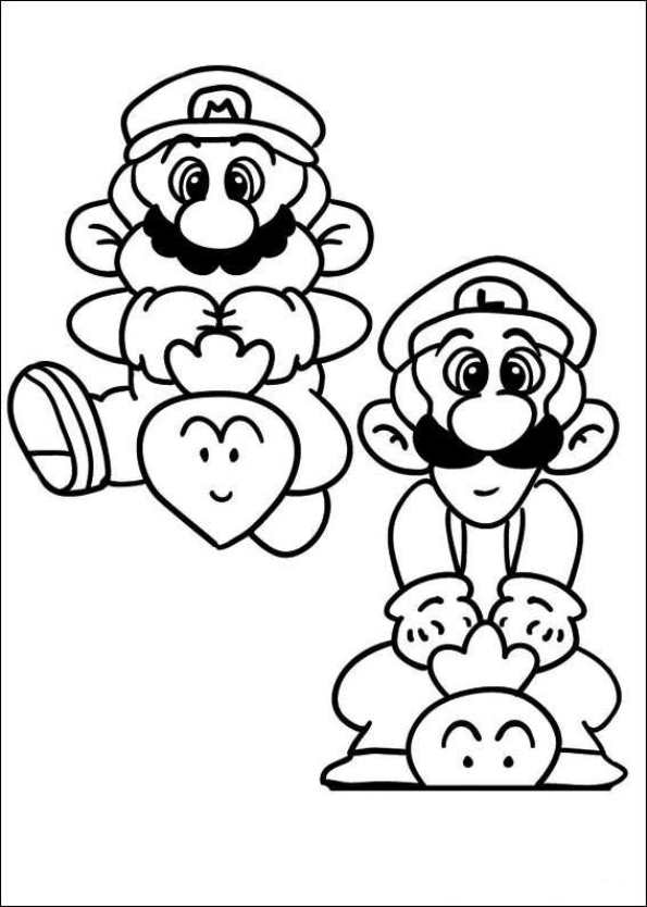 Super Mario Coloring Pages | Birthday Printable