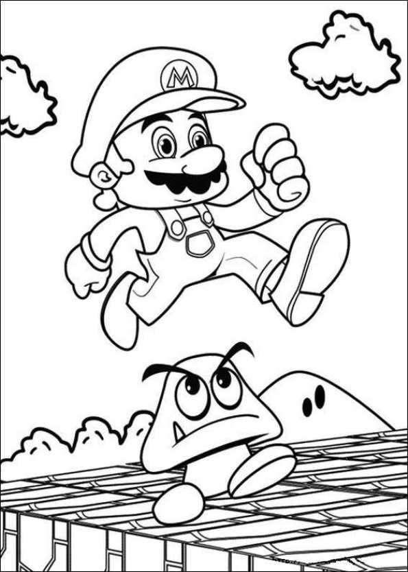 Super Mario Coloring Pages Birthday
