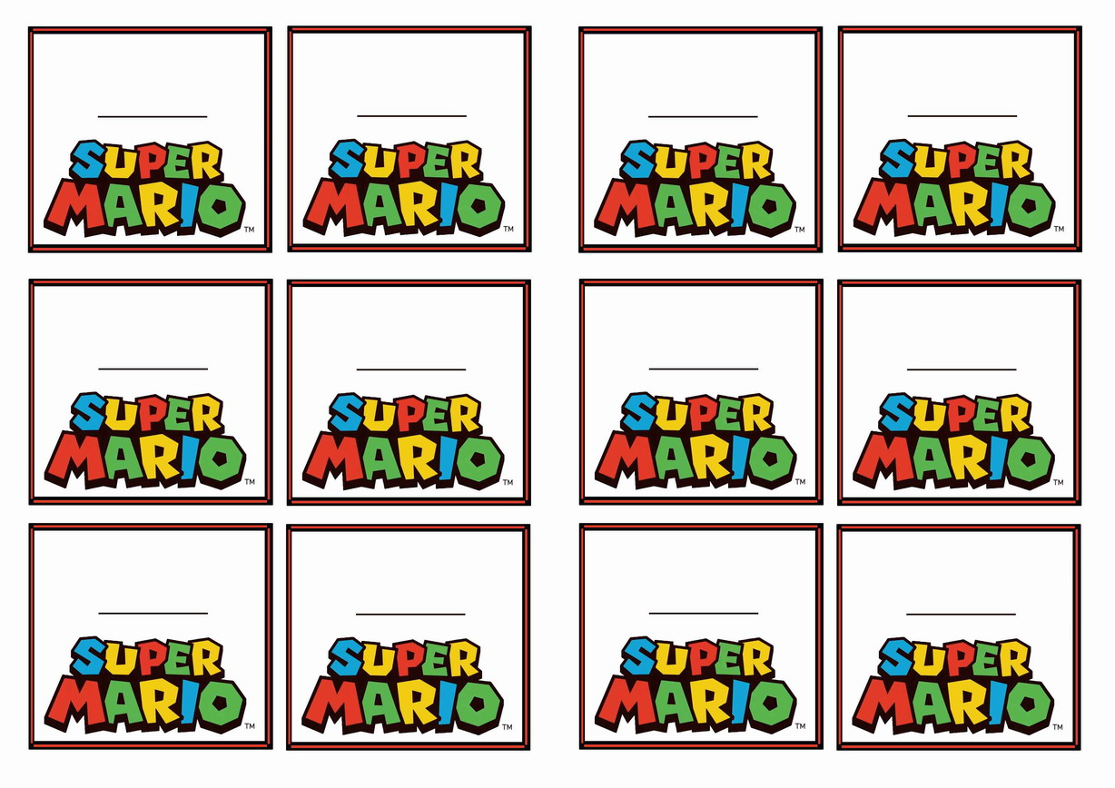 It is a picture of Dynamic Super Mario Party Printables