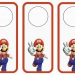 Super Mario Door Hangers
